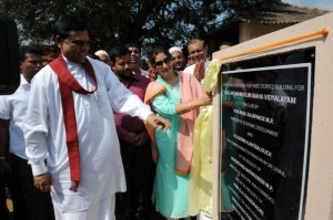 Foundation Stone of the Pakistan Sponsored school laid in Vavuniya