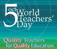 World Teachers' Day is being observed today