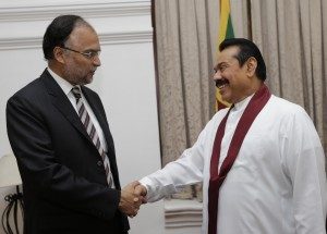 Minister for Planning, Development and Reforms, Government of Pakistan Meets President Mahinda Rajapaksa