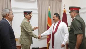 Pakistan's Chairman Joint Chiefs of Staff Committee meets Sri Lankan President