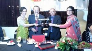 Deputy High Commissioner of Pakistan Ms. Amna Baloch along with President Sri Lanka