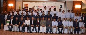 Pak Envoy Hosts Pak and Lankan Cricket Teams on Eid Dinner