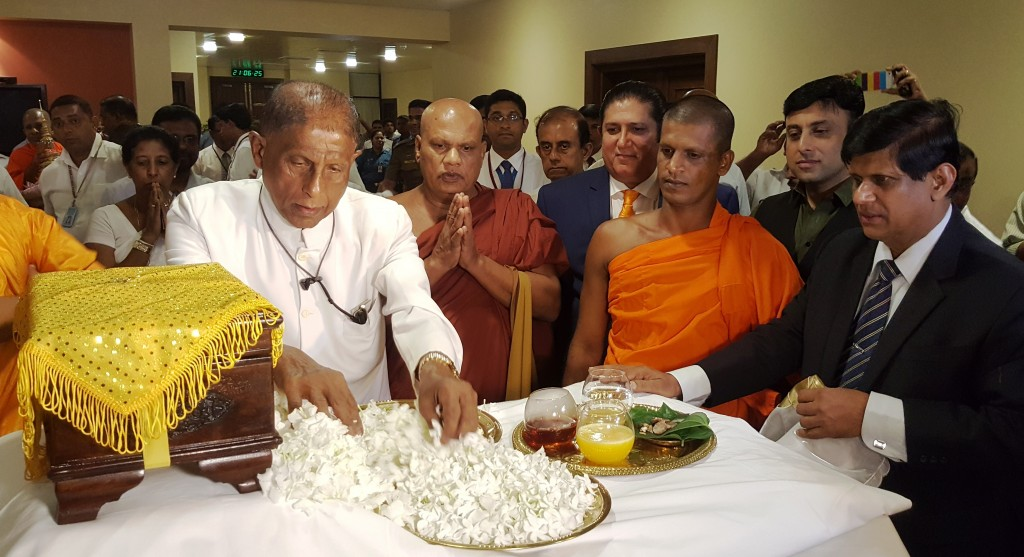 Sri Lankan Religious and Political Leaders hail arrival of Holy Relics from Pakistan's Gandhara Region
