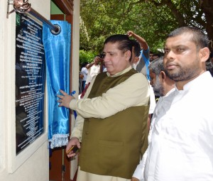 Acting High Commissioner Dr. Sarfraz Sipra inaugurating the Water Purification Plant in Anuradhapura district