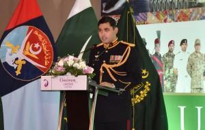 Defence Advisor Col. Sajjad Ali welcoming the guests
