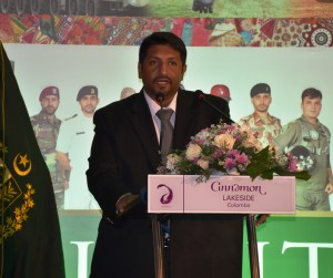 State Minister of Defence, Hon. Ruwan Wijewardene addressing on the occasion