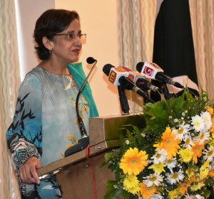 Foreign Secretary Ms. Tehmina Janjua addressing on the occasion