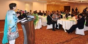 Foreign Secretary speaking on the launching of Pakistan Alumni Society of Sri Lanka (PASS)
