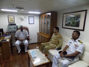 Pakistan's Defense Attache' called on the commander