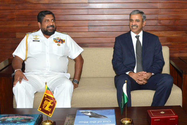 Pakistan's Defence Secretary met the Sri Lankan military leadership