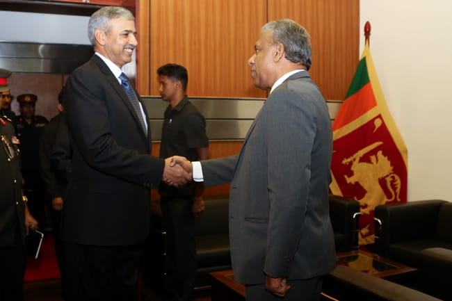 Pakistan's Defense Secretary met his Sri Lankan counterpart