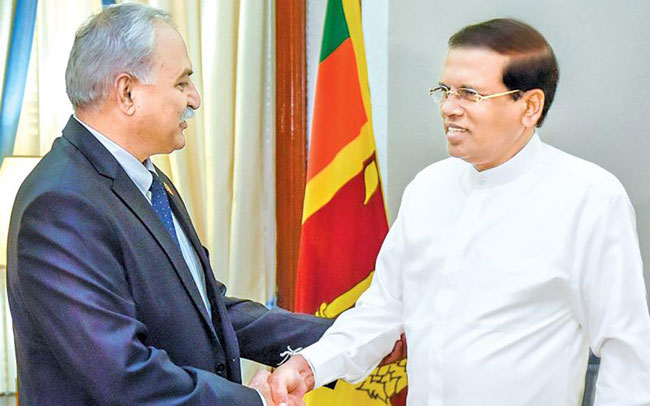 Pakistan High Commissioner briefs the President of Sri Lanka on the latest security situation in South Asia