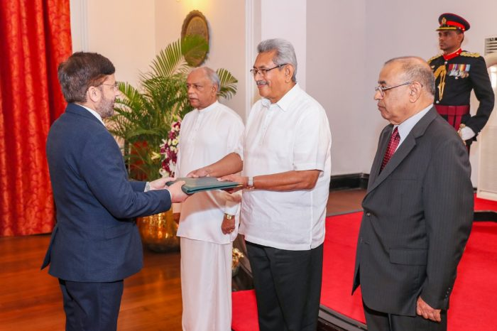 Pakistan's New High Commissioner Presents Credentials to  Sri Lankan President