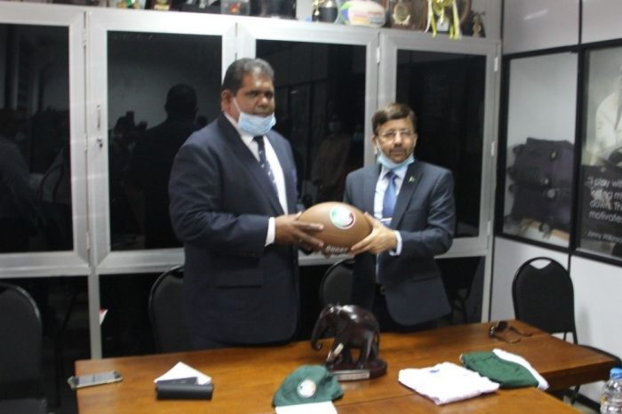 Pakistan High Commissioner meets with President of Sri Lanka Rugby