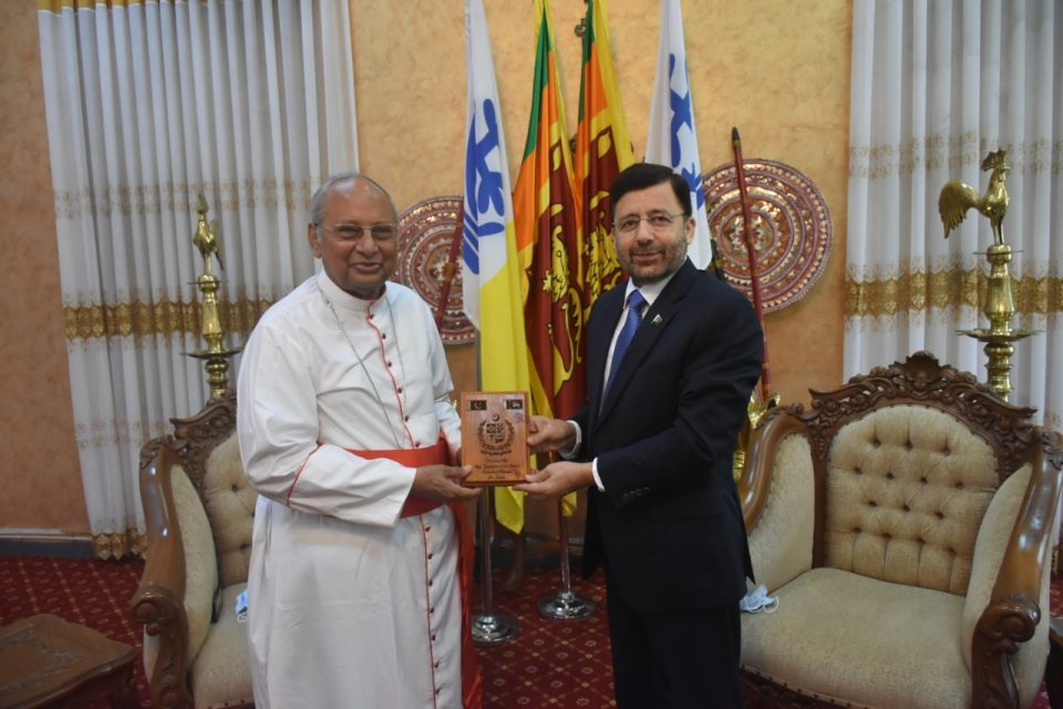 High Commissioner of Pakistan held a cordial meeting with the Archbishop of Colombo