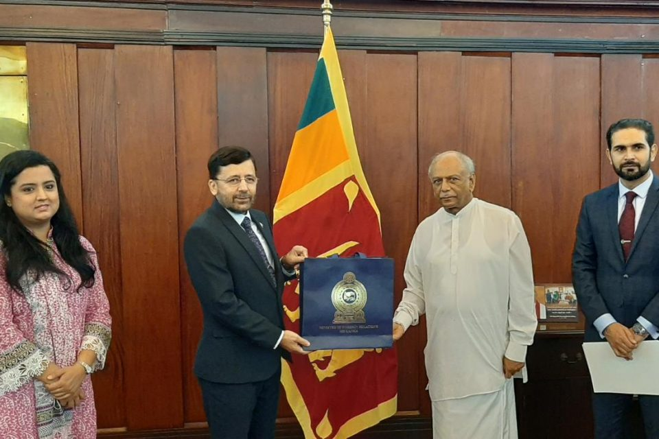 High Commissioner of Pakistan held meeting with the Honourable Foreign Minister of Sri Lanka